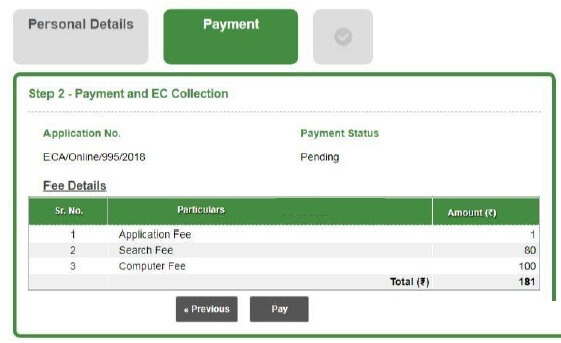 apply ec online applicantion payment link
