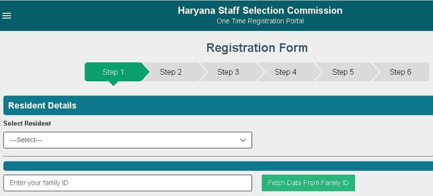 hssc cet portal पंजीकरण फॉर्म