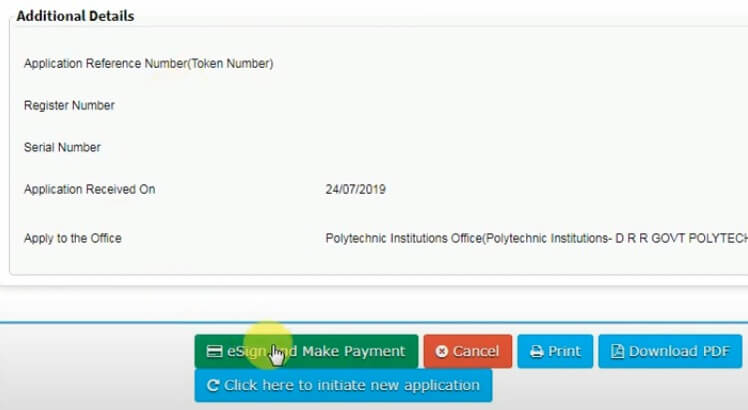 seva sindhu application for original  diploma certificate esign and payment link