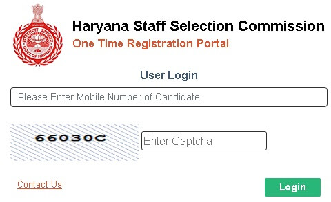 one time registration portal login page