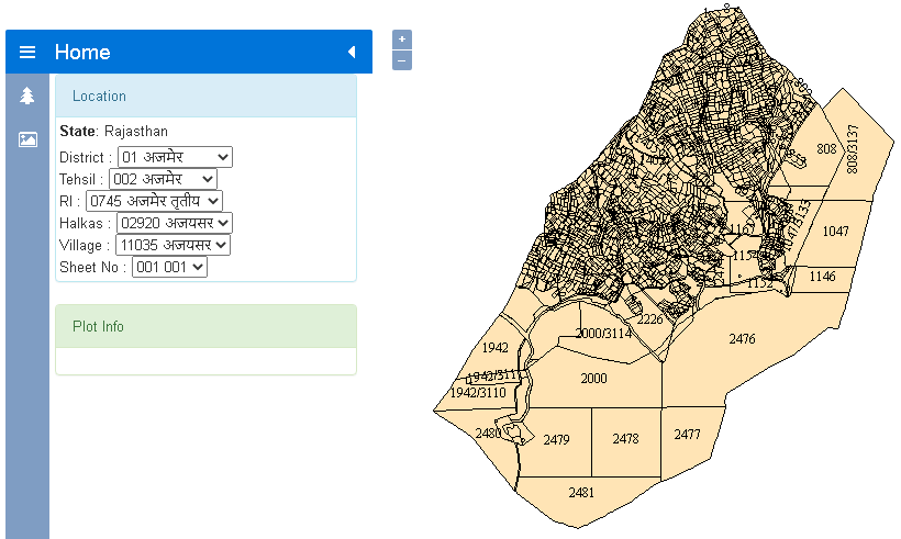 Rajasthan Land Map Official Website