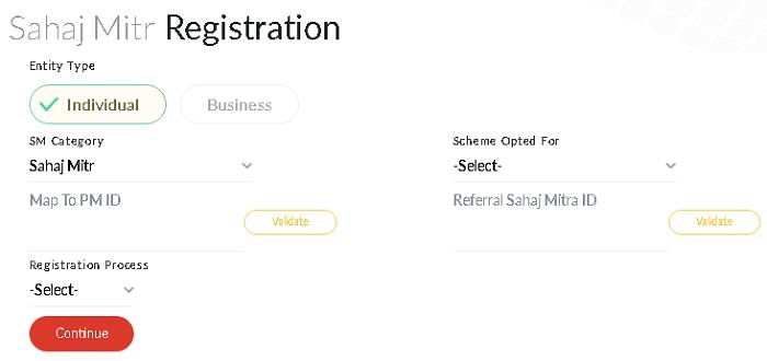 sahaj mitra registration