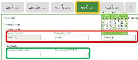 tn marriage registration NRI details