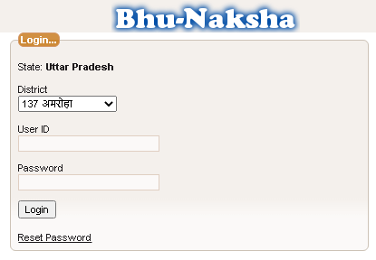up bhu naksha login page