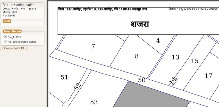 upbhunaksha-shajra-map