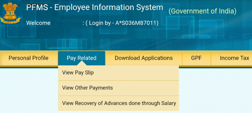 Public financial management system employee information system