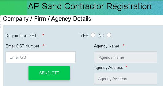 contractor registration form