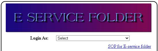 hrms e service folder page