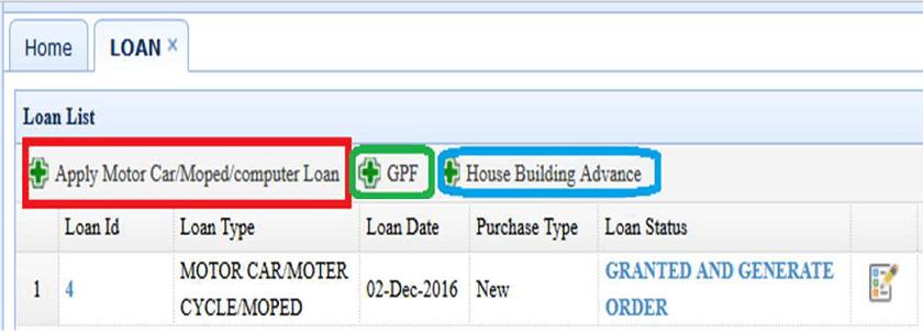 hrms loan dashboard