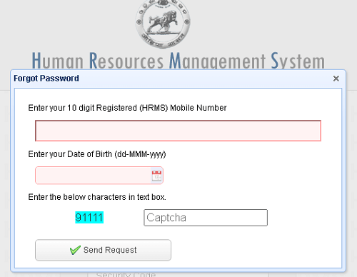hrms orrisa forgot password page