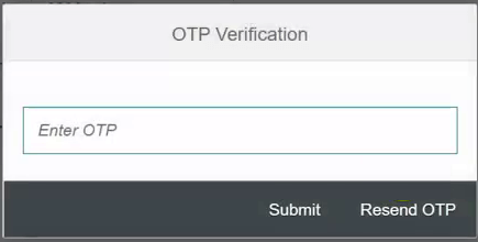 hrms password reset otp verification page sbi