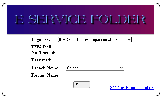 hrms uco ibps candidates login page