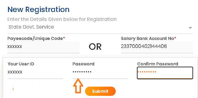 intraharyana registration password set page