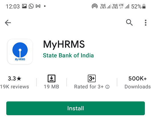 myhrms app google play store page