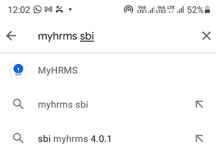 myhrms search on Google Play Store