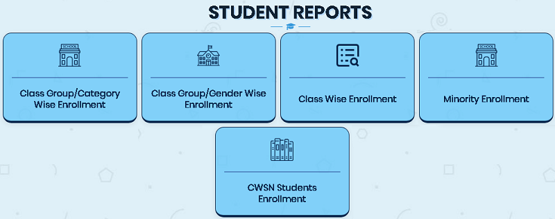 student reports page