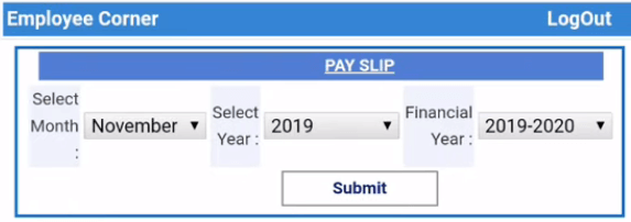 Rajasthan PayManager Pay slip download page
