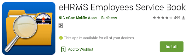 employee service book app page on google play store