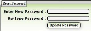 new password update