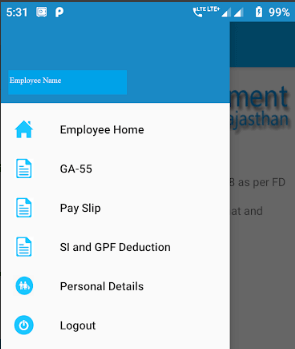 paymanager app employee services page