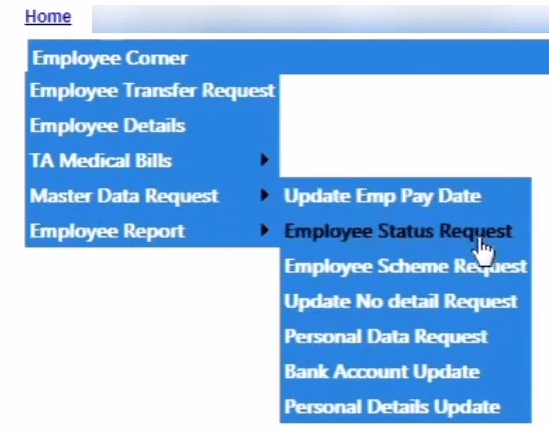 paymanager employee status request link