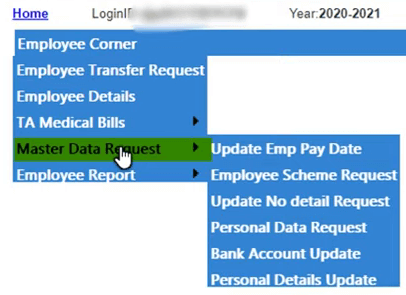 paymanager master data request options