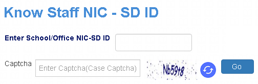 shala darpan staff window forgot user id page