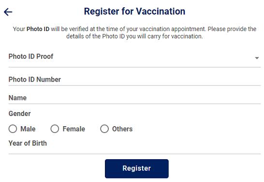 cowin-member-registration-form