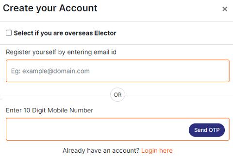 eci voter portal registration form