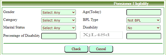 pensioners eligibility criteria search form