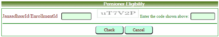 pensioners eligibility janaadhaar enrollment id search form