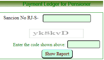 search pensioner payment ledger