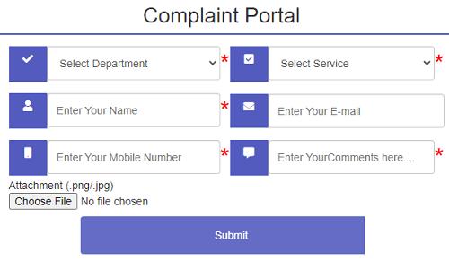seva sindhu complaint portal