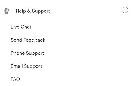 umang app help & support options
