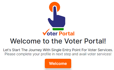 voter portal NVSP welcome screen