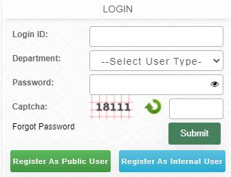 MP Bhulekh login form