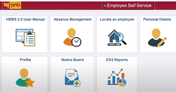 pnbhrms employee self service page