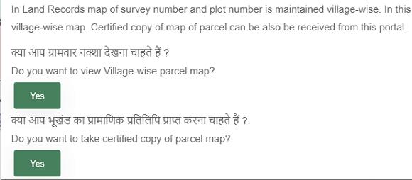 village-wise land map pop-up