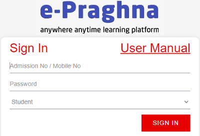 epraghna student login
