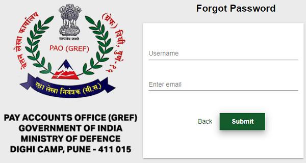 pao gref forgot password form