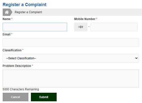 tnpds complaint form