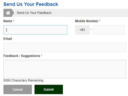 tnpds feedback form